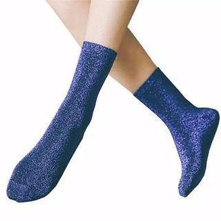 Wine Red Glitter Socks