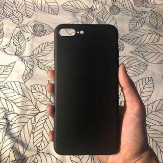 Soft Black Case for iphone 7+/8+