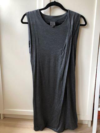 Calvin Klein 彈性灰色洋裝