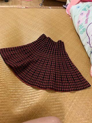 千鳥格短裙