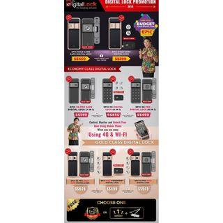 Epic Gold Card Gate and Door Digital Lock Package $599 88164080