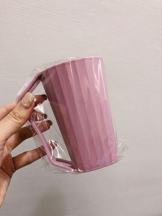 1、漱口杯2個 乾燥粉色 淡紫色