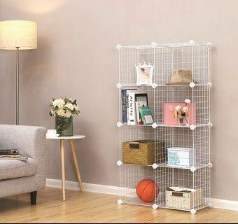 METAL WIRE MESH 8C DIY Multi Function Cabinet (MW8W) k