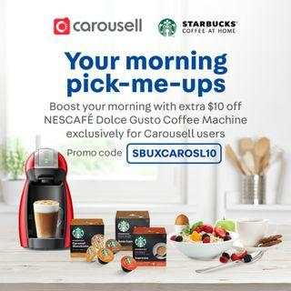 Your Morning Pick-Me-Ups with STARBUCKS® by NESCAFÉ DOLCE GUSTO