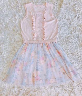0918針織拼接紗裙洋裝