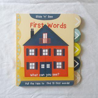 Preloved • Boardbook Slide n See First Word
