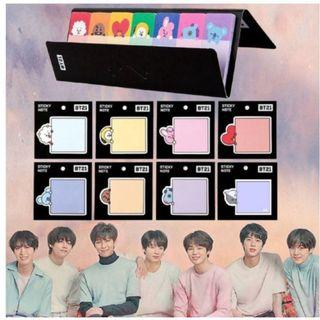 PO-BT21 BTS STICKY NOTE suitable for studying