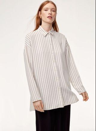 Aritzia Babaton Kearney Shirt (Black/Espace)