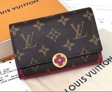 LV FLORE 小型錢包 中夾 皮夾 M64588 專櫃價28800