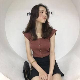 ulzzang brown strappy top