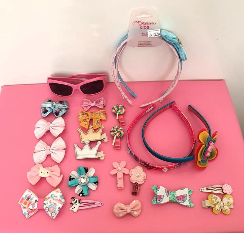 25 assorted hair clips, hair bands, Peppa Pig sunglasses