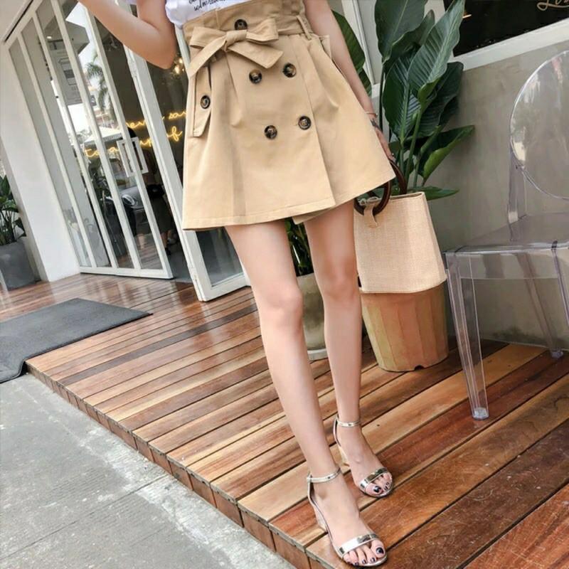 花苞排扣裙(米)
