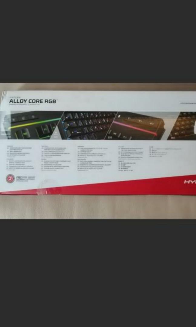全新🔥 低價🔥hyper x alloy core rgb 電競防潑淺鍵盤