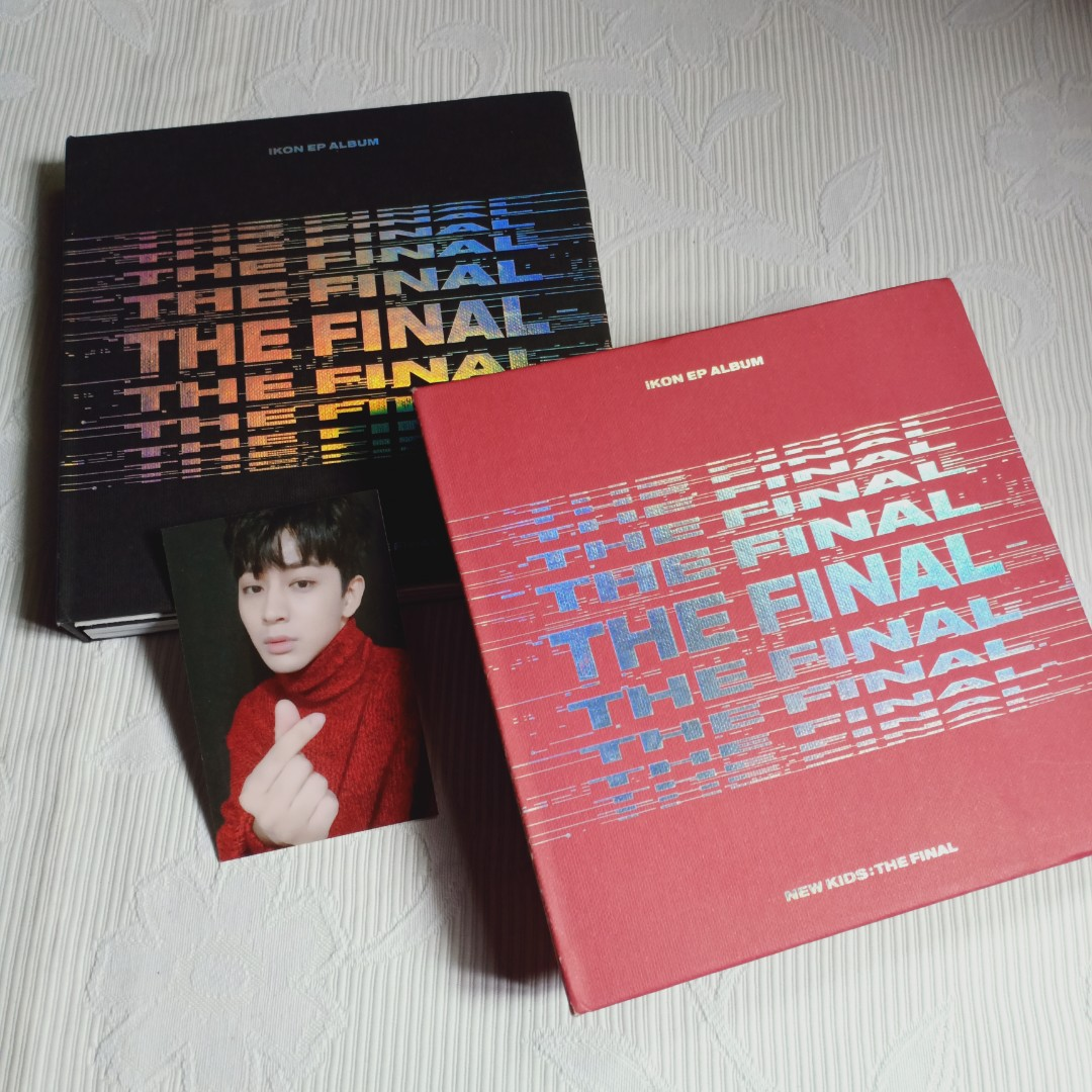 ALBUM IKON NEW KIDS THE FINAL RED / BLACK SONG YUNHYEONG PHOTOCARD + FOLDED POSTER