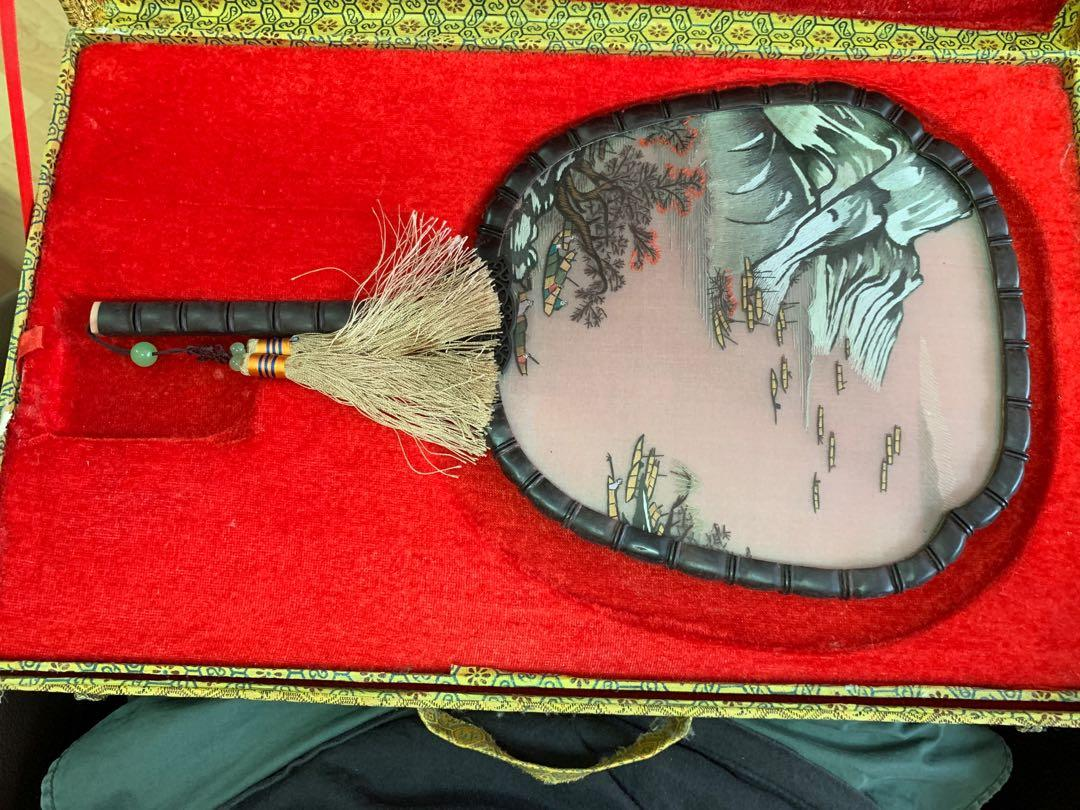 Ancient Chinese Fan (glass)