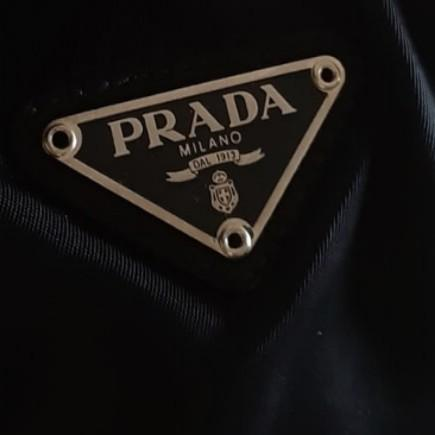 AUTHENTIC PRADA CHAIN SHOULDER BAG - BLACK NYLON CANVAS - SILVER HARDWARE- CLEAN INTERIOR,  OVERALL IN GOOD CONDITION- (PRADA CHAIN SHOULDER BAGS NOW RETAIL OVER RM 5000+) -