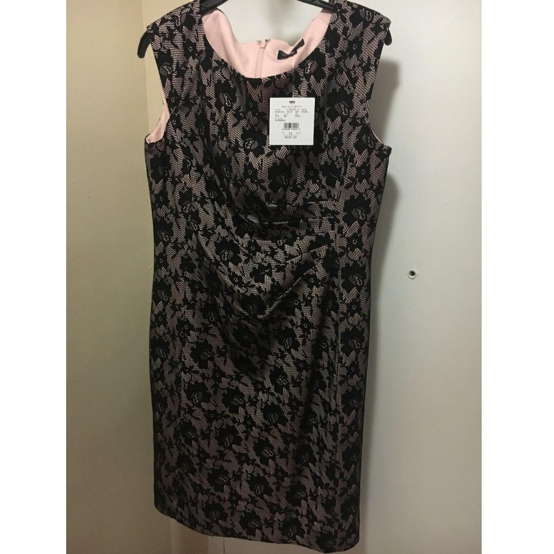 NEW Black Lace Dress- Melanie Lyne. Size 10 (Original price $225)