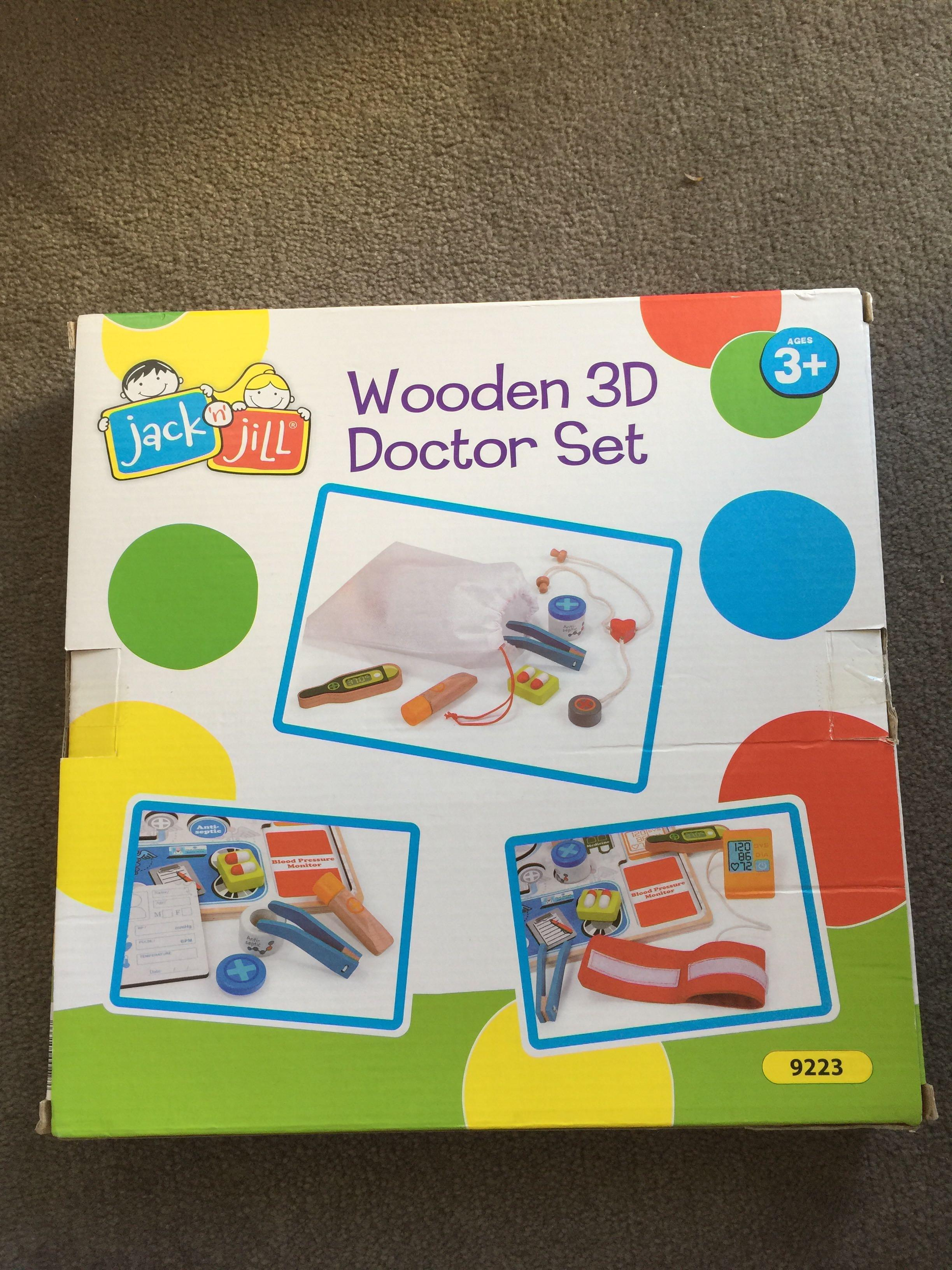 Bnib wooden jack n hill doctor playset toys from sydney