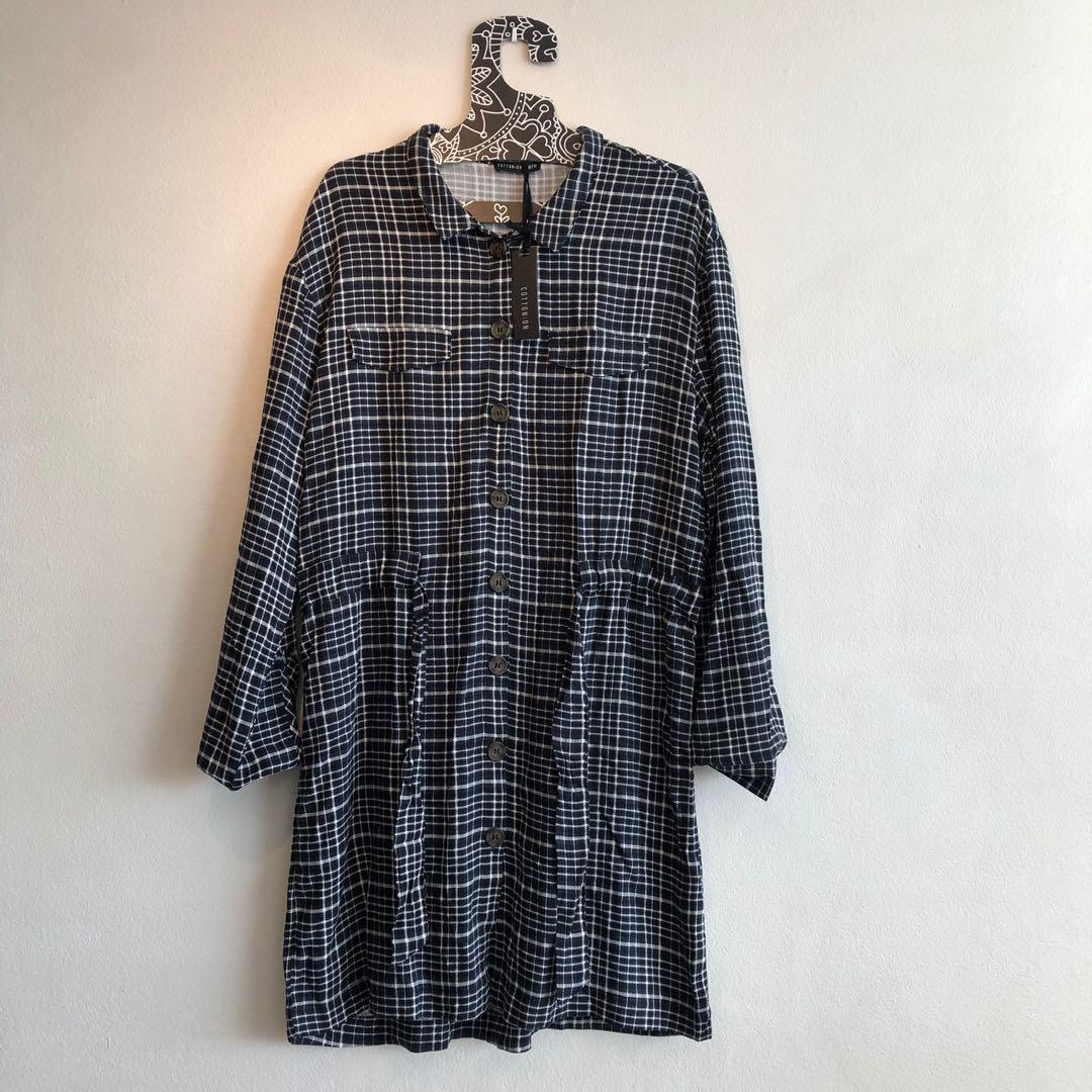 Brand new cotton on checkered collar dress long sleeves