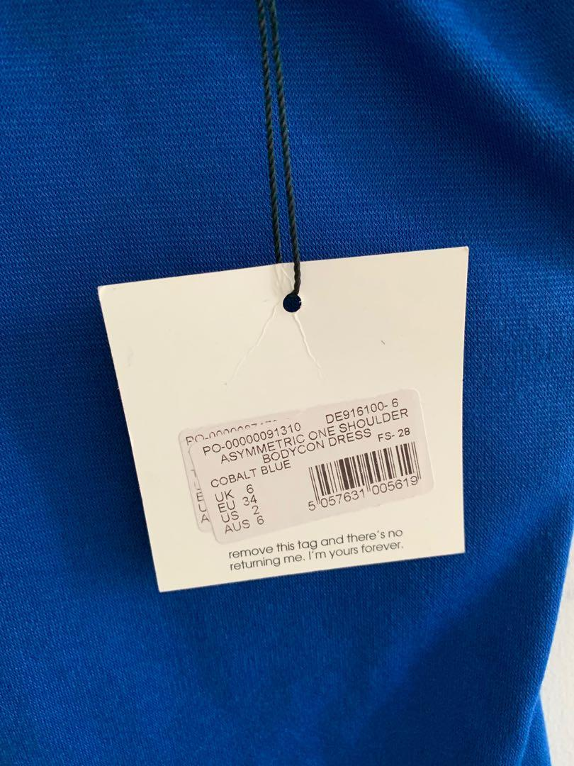 *Brand new* size 2 Misguided Asymmetrical blue dress