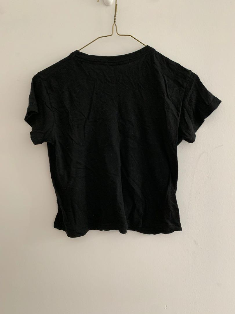 """Brandy Melville """"ok, but first coffee"""" T-shirt, one size"""