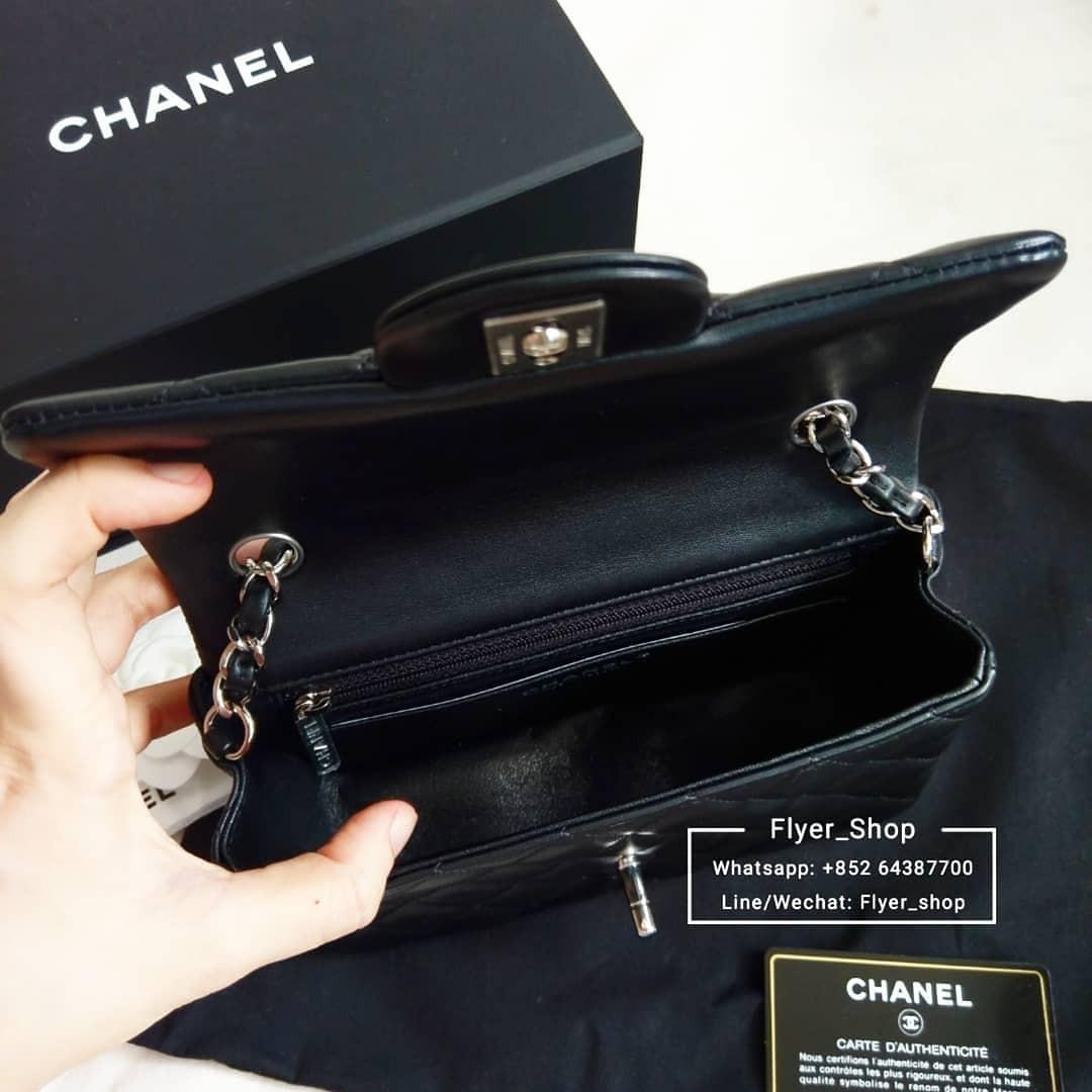 Chanel 20cm Classic Mini Flap 黑色經典mini