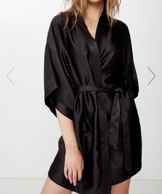 Cotton on Satin Bathrobe