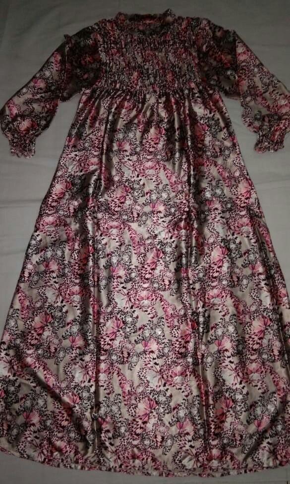 Dress Bunga Satin