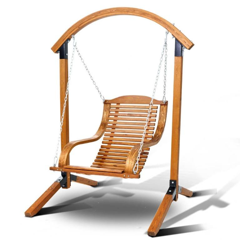 Gardeon Outdoor Furniture Timber Hammock Chair Wooden Patio Swing Lounge Chairs