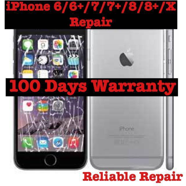 Good iPhone Repair,iPhone X 8 7 6 Damage Screen Glass Repair