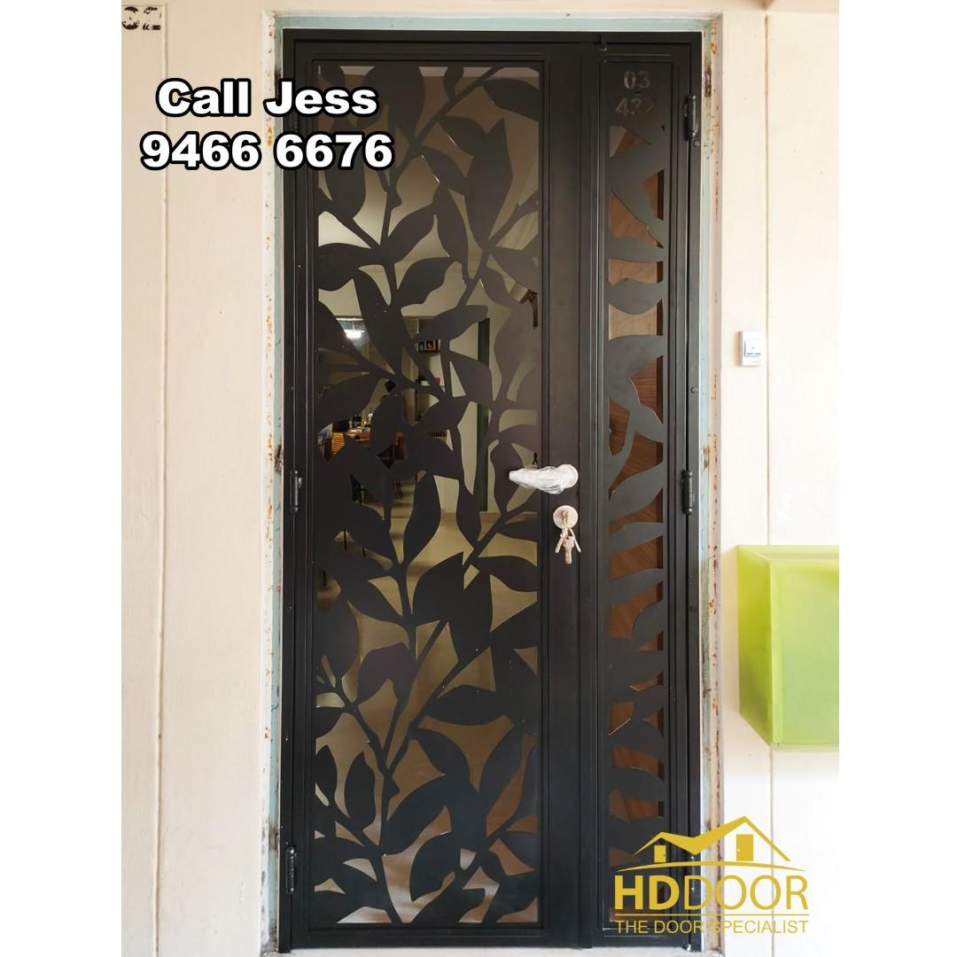 HDB Mild Steel gate with Laser cut you like design