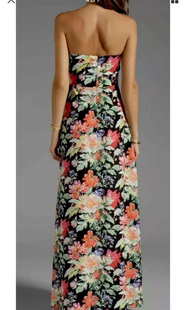 """Ladies NOOKIE """"Full Bloom"""" Strapless Floral Maxi Dress. Size 6. $280"""