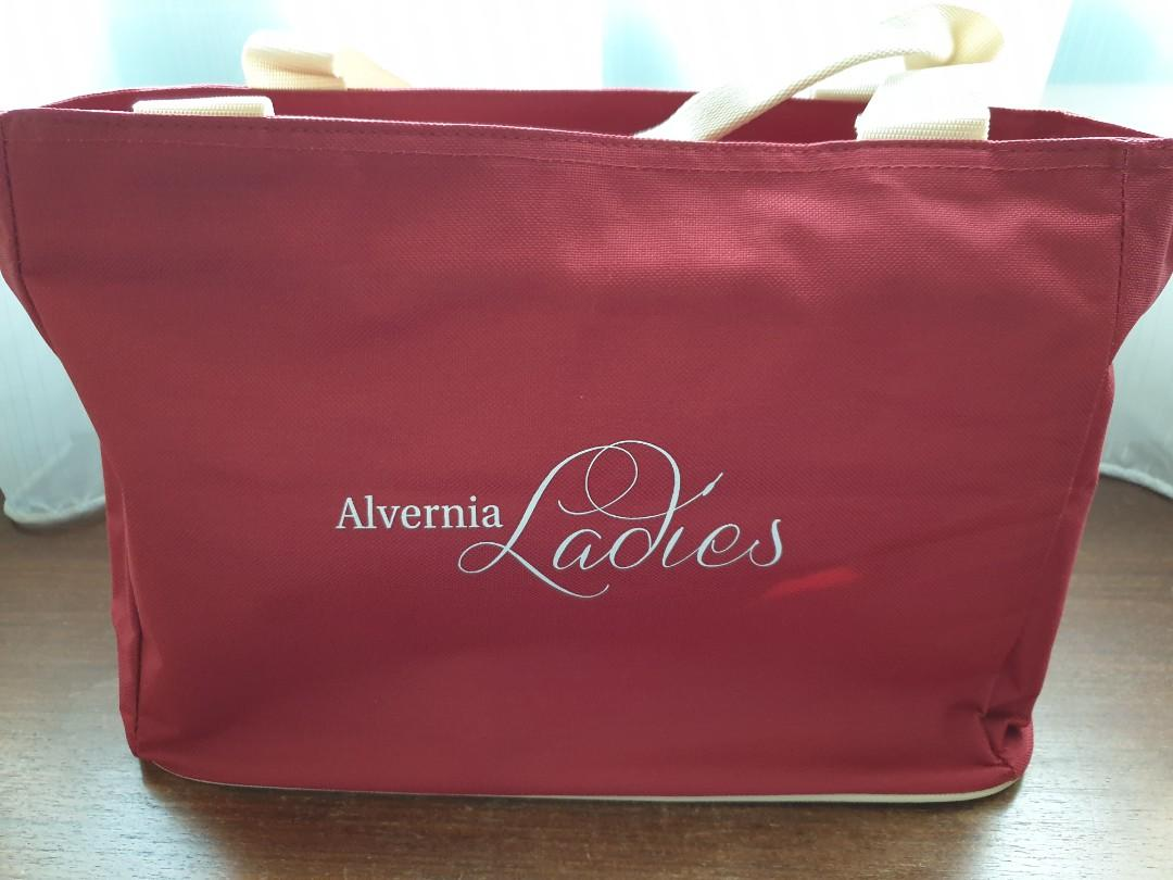 Ladies Red Tote Bag / Handcarry Cabin Bag / Diaper Bag