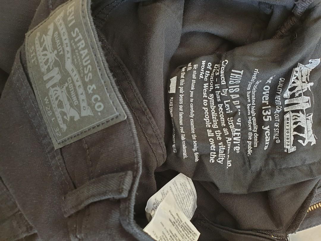 Levis 511 Mens Jeans size 28