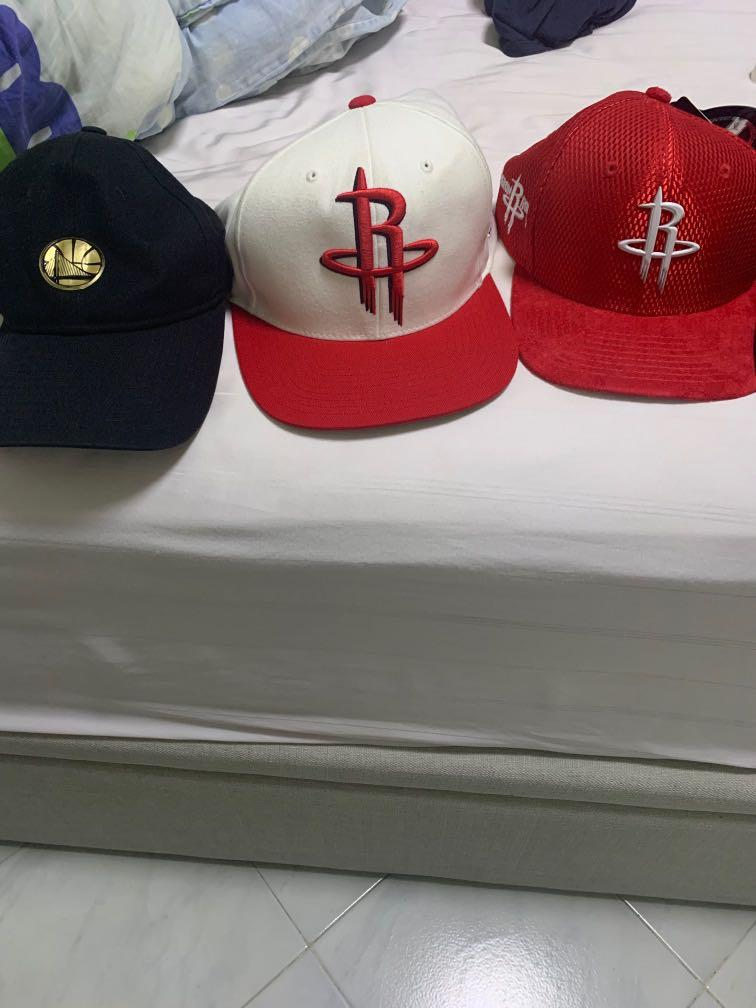 NBA Caps (Rockets/Warriors)