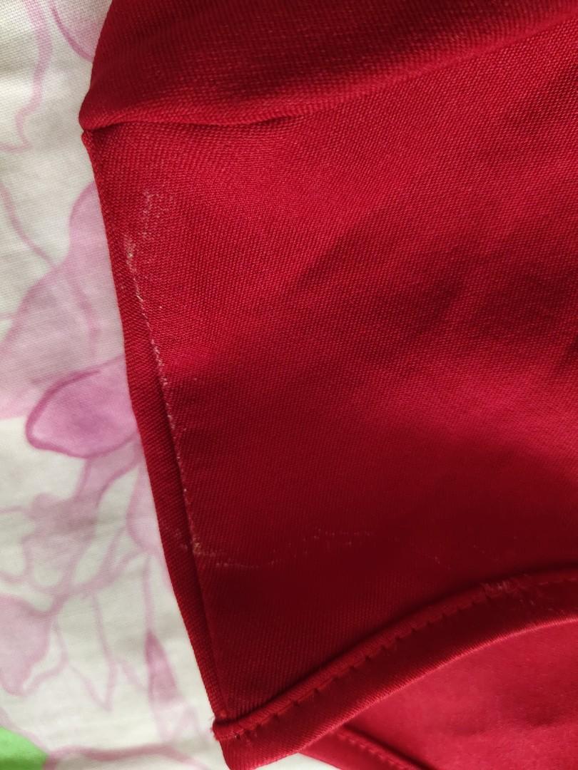 New Red Peplum Top #bagibagi