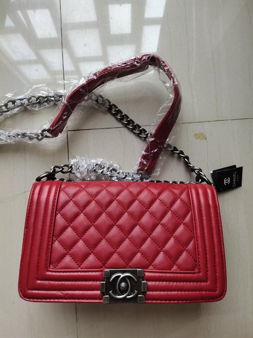 New Tas Chanel red #bagibagi