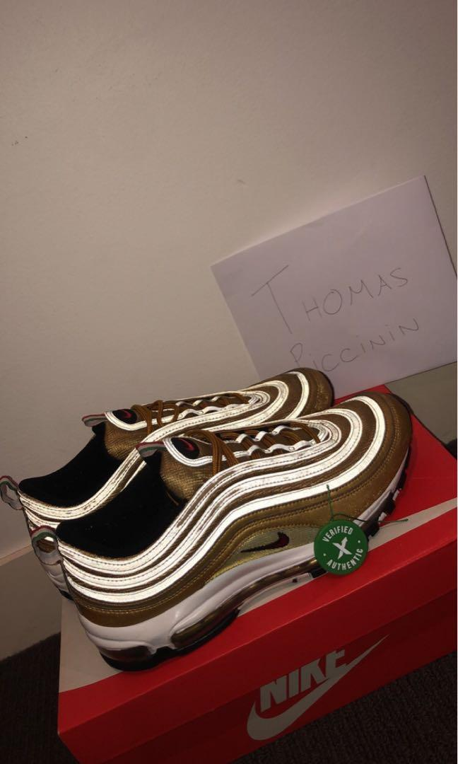 Nike Air Max 97 Gold Metallica Italy version 9.5/10 condition
