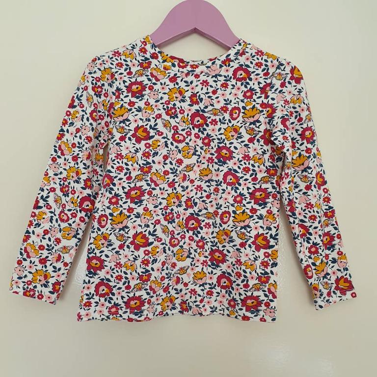 NWOT Size 3 2 pack Target Raspberry and Floral long sleeve tops