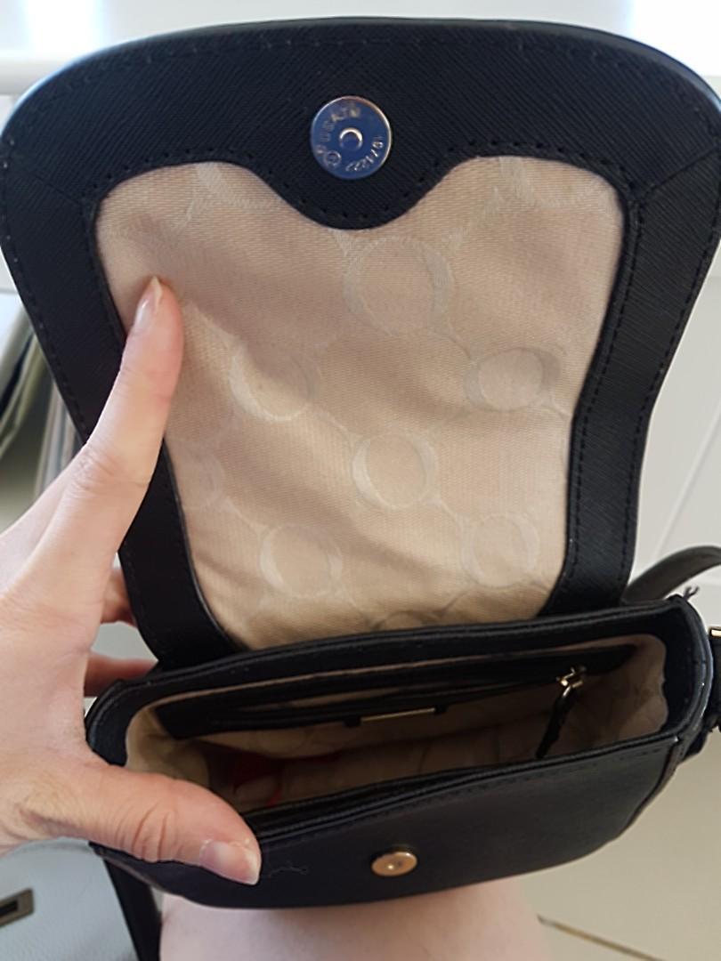 Oroton strap black bag