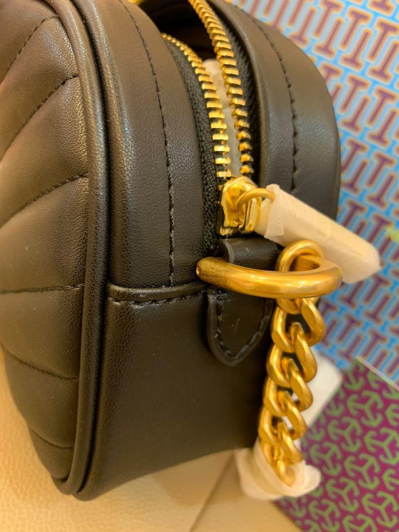 Ready Stock Authentic coach Kira chevron camera bag handbag