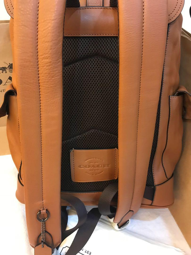 Ready Stock Authentic coach men backpack 23202 coach laptop bag travel 0918