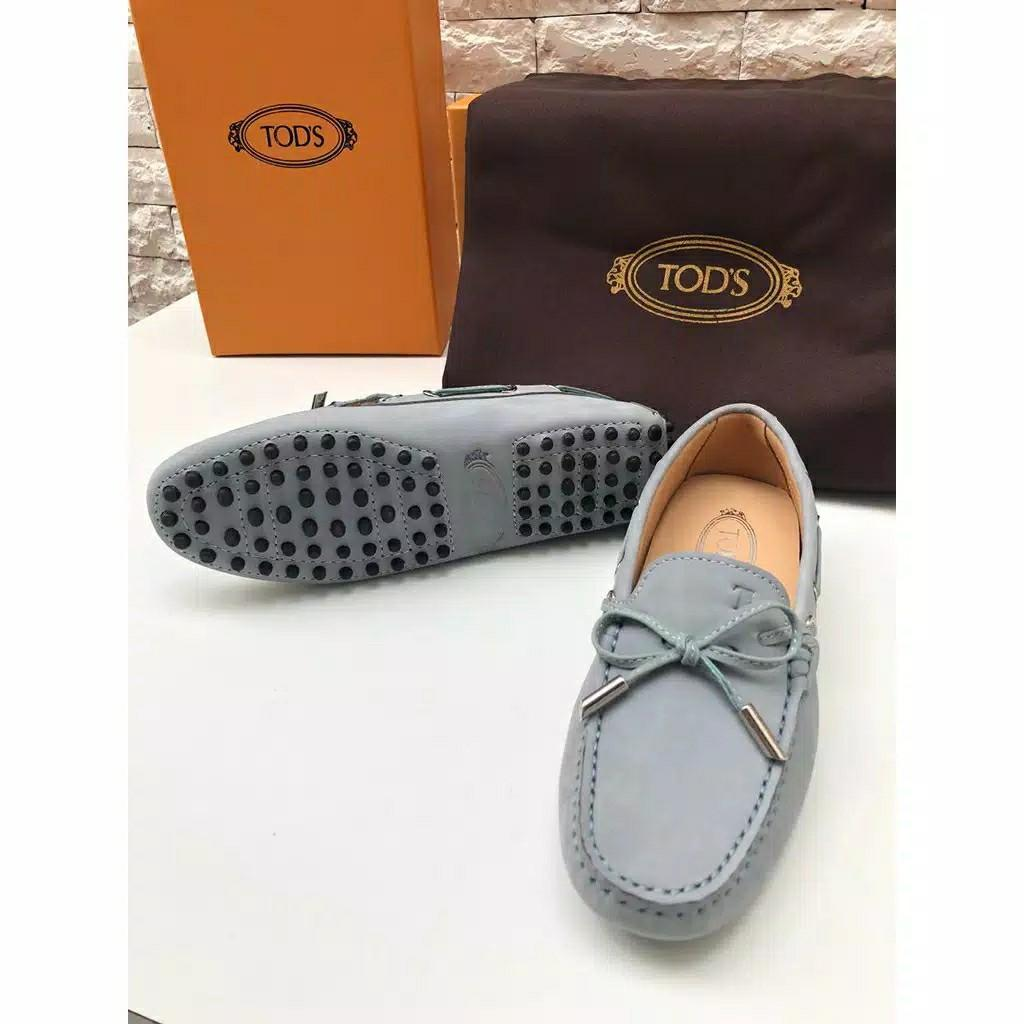 sepatu flat loafers tods mirror 1:1 original real suede leather