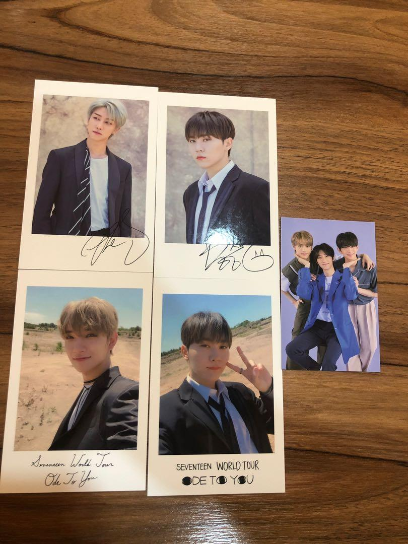 SEVENTEEN PHOTOCARD ode to you polaroid and trading card