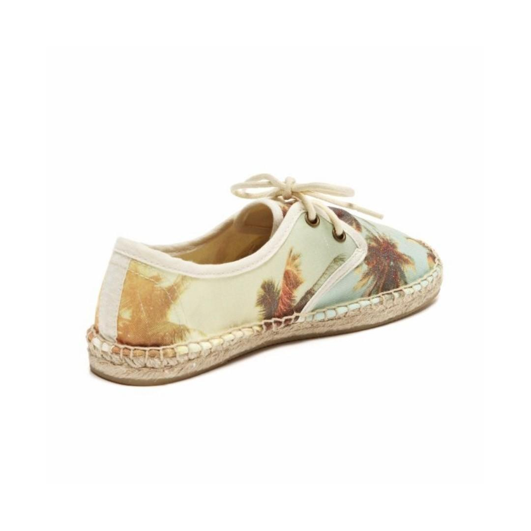 soludos tropical printed lace-up espadrille sneakers