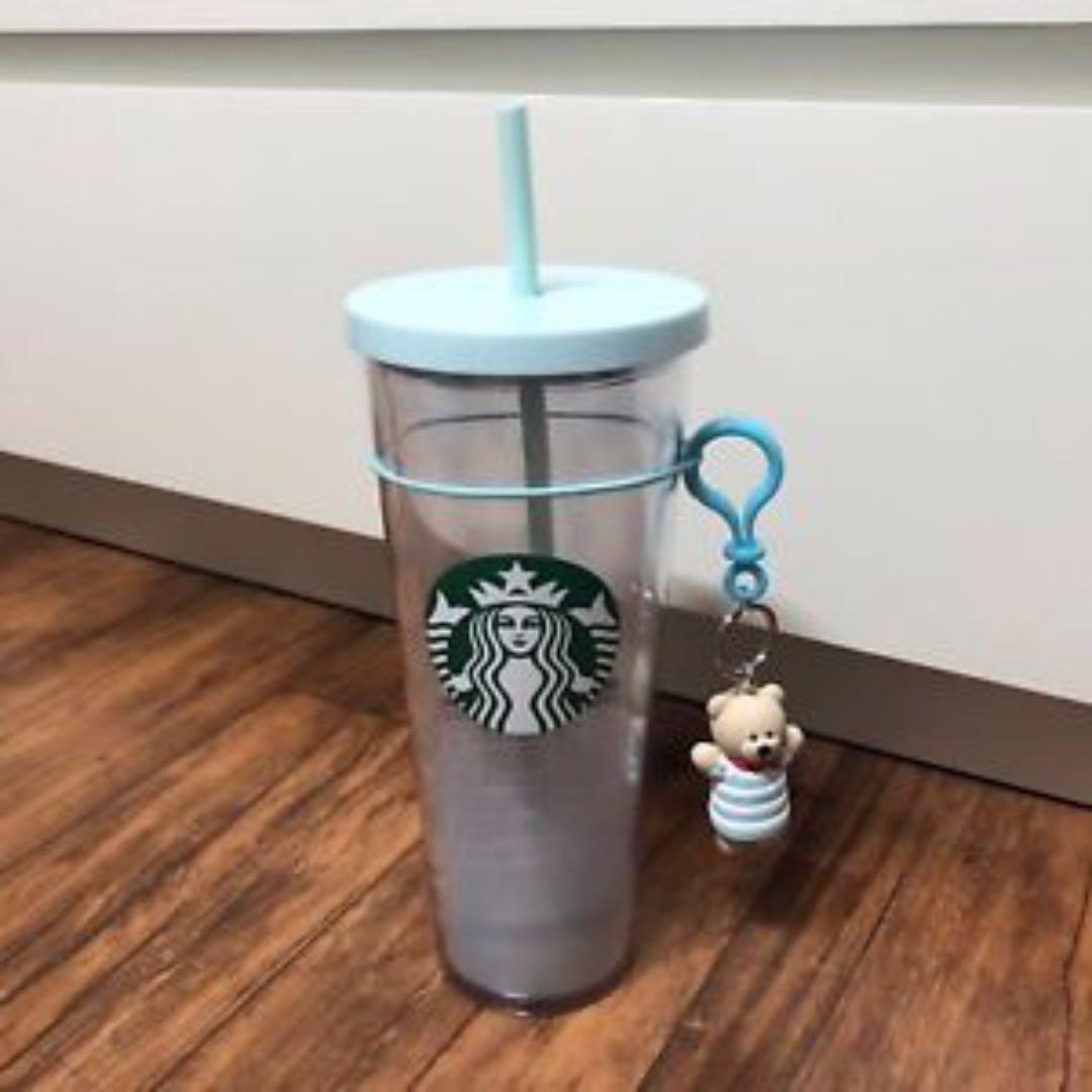 Starbucks Summer Marine Aqua Grande Cold Cup, Bearista Charm