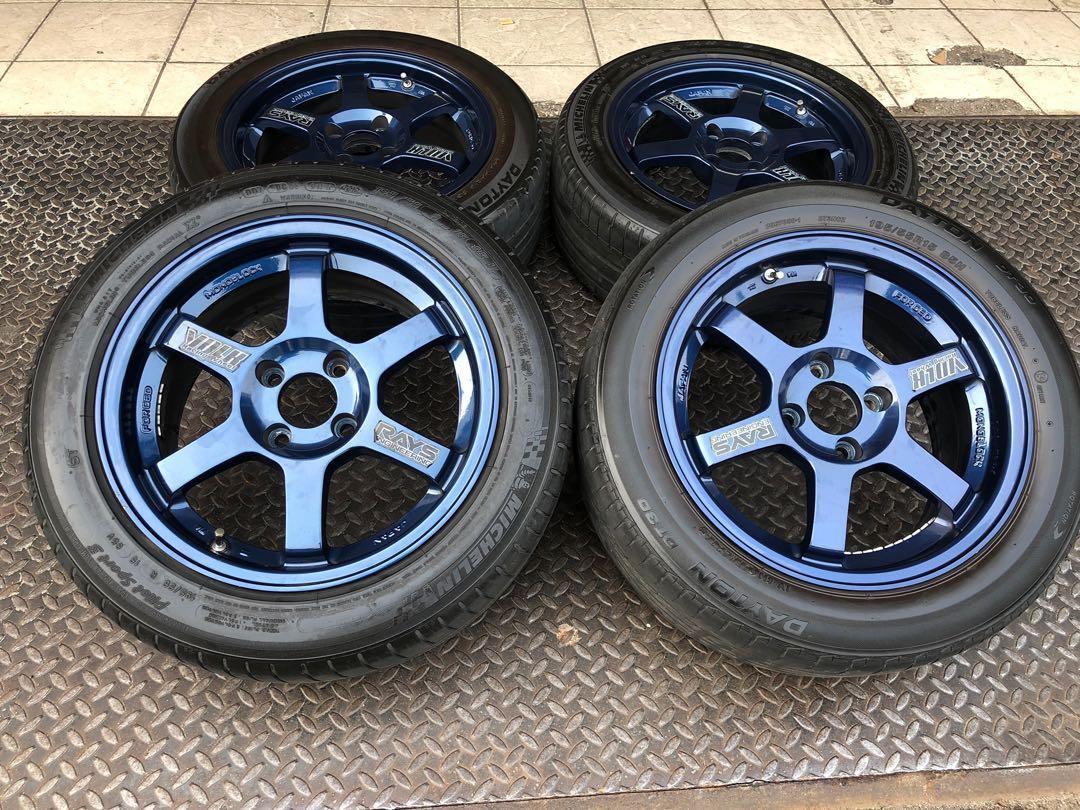 TE37 Mag blue 15 pcd100