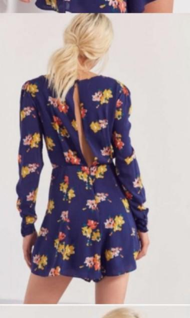 Urban Outfitters Kimchi Blue Floral Front Tie Romper