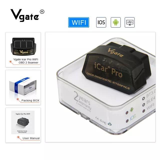 Vgate icar pro 4代 wifi版(非藍牙) obd2 elm327 行車電腦診斷