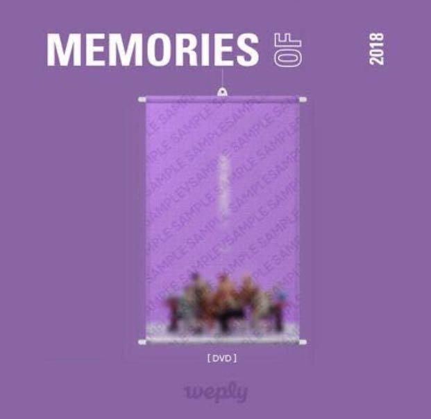 [Wall Scroll] BTS Memories Of 2018 Official Wall Scroll (DVD version)
